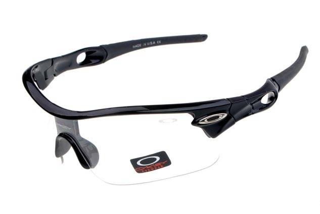 oakley radar pitch sunglasses in polished black and clear iridium