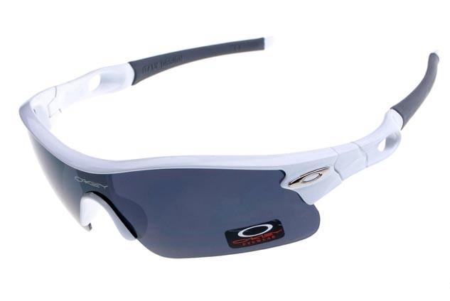 oakley radar pitch sunglasses in white and black iridium