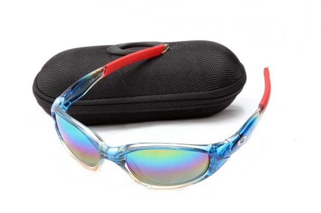 Oakley straight jacket sunglass crystal blue and colorful iridium