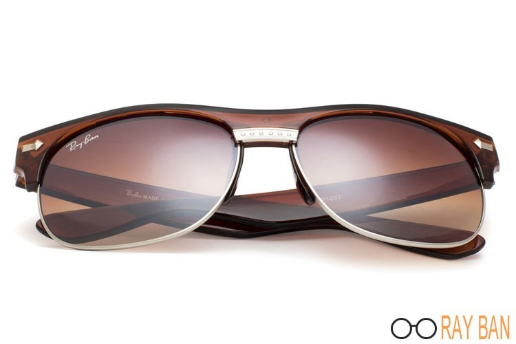 Ray Ban RB20257 Clubmaster Flash Lenses Brown