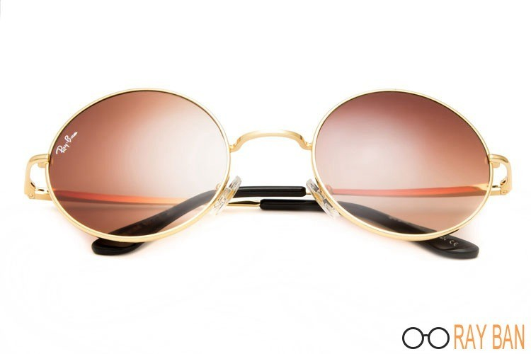 Ray Ban RB3088 Round Metal Gold Sunglasses
