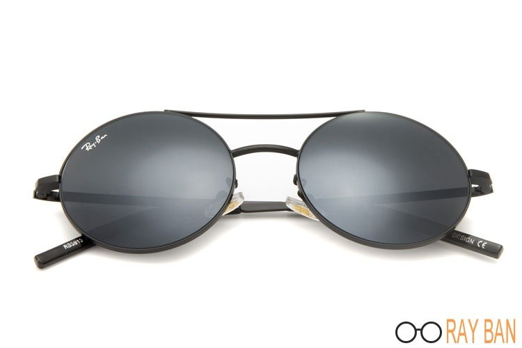 Ray Ban RB3813 Round Metal Black Sunglasses