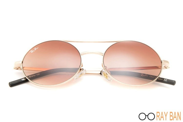 Ray Ban RB3813 Round Metal Gold Sunglasses outlet