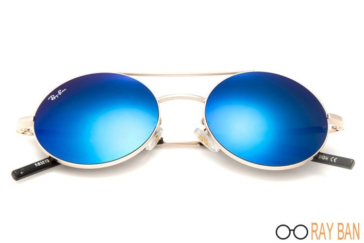 Ray Ban RB3813 Round Metal Gold Sunglasses sale