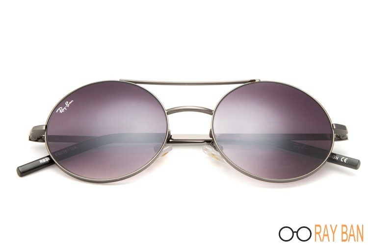 Ray Ban RB3813 Round Metal Grey Sunglasses