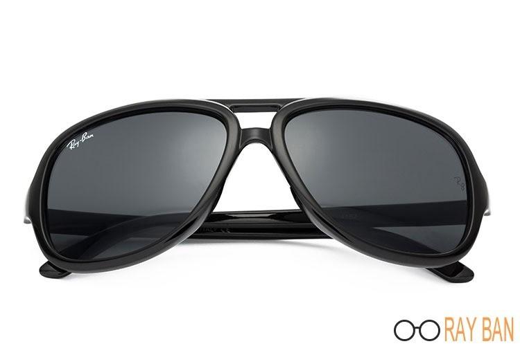 Ray Ban RB4162 Cats 5000 Black Sunglasses