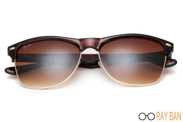 Ray Bans RB4175 Clubmaster Oversized Classic Tortoise
