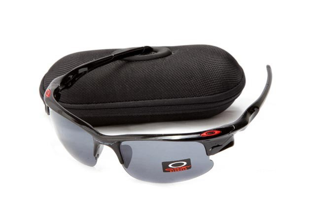 Oakley fast jacket sunglasses in polished black and black iridium