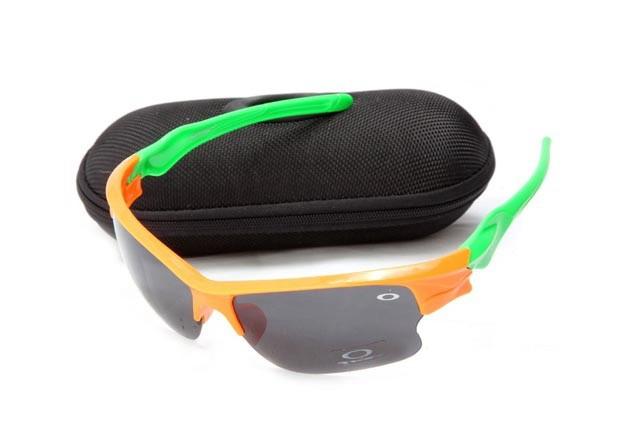 Oakley fast jacket sunglasses in orange flame and island green and black iridium