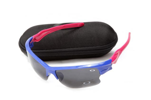 Oakley fast jacket sunglasses in brilliant blue and neon pink and black iridium